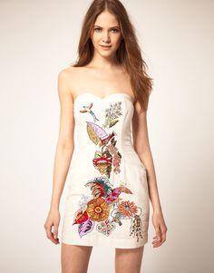 French Connection Floral Bustier Dress.  dressologyhq.blogspot.com