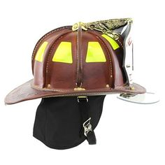 Cairns: N5A New Yorker Natural Leather Helmet, Bourke Eyeshield, OSHA #TheFireStore