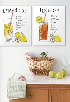 Pair of canvas prints from artist Mo Mullan is an artful reminder to take a break and enjoy life's simple pleasures. Purchase at GreatBIGCanvas.com