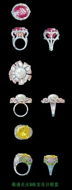 珠宝设计手绘稿