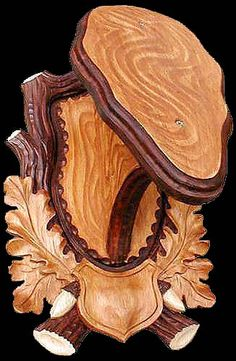 wood carved angle mount, don't know if I could find a buck worthy!