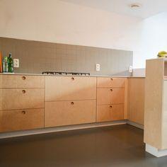 Keuken In Berkenmultiplex   Schrijnwerk Thomas Campo