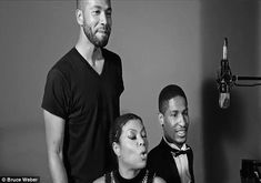 Goofing around: The 45-year-old also did some singing with her on-screen son Jussie Smollett, who plays Jamal in Empire, and singer Jon Batiste