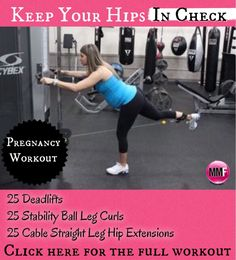 For not letting the hips get big during pregnancy. Great pregnancy exercises for the hips and butt. All safe pregnancy exercises that can be done from heme with no equipment.  http://michellemariefit.publishpath.com/keep-your-hips-in-check-pregnancy-workout