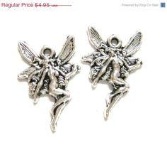 4pcs Pixie Fairy Art Nouveau Antique Silver by SupSupSupplies, $3.96