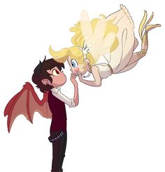 A starco story where Marco is a demon. Star is sent to Earth to train after misfiring her wand on Mewni. But when she has a training accident, a handsome demon. Starco, Drawings, Animation, Angels And Demons, Star Vs The Forces Of Evil, Anime, Cartoon, Evil, Stars