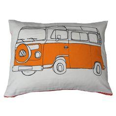 Orange Campervan Cushion / Pillow
