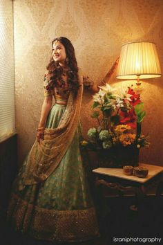 Indian Bridal Outfits, Indian Designer Outfits, Bridal Dresses, Dress Indian Style, Indian Dresses, Indian Clothes, Indian Attire, Indian Wear, Lehnga Dress