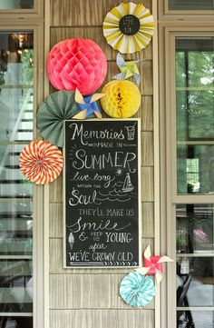 Summer Chalkboard Art on the Screened Porch | Less Than Perfect Life of Bliss | home, diy, travel, parties, family, faith