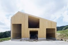 'The cowshed is a humble type that has elicited some surprisingly thoughtful treatments, from Soane's graceful semi-circular examples to Stephen Taylor's rustic concrete arch' Cowshed in Lignières, Switzerland by localarchitecture