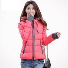 78101ca36fa1e Click to Buy    winter jacket women 2016 fashion slim short cotton-
