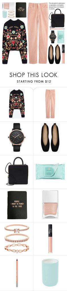 """""""embroidered sweater"""" by jesuisunlapin ❤ liked on Polyvore featuring Belgique, Skagen, Building Block, Estée Lauder, A Weathered Penny, Nails Inc., Accessorize, NARS Cosmetics, Urban Decay and Aquanova"""