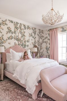 French Home Decor Isla Rose's Room Reveal.French Home Decor Isla Rose's Room Reveal. Dream Rooms, Dream Bedroom, Master Bedroom, Girl Bedroom Designs, Little Girl Rooms, Girl Kids Room, Bed For Girls Room, Bedroom Girls, Kid Bedrooms