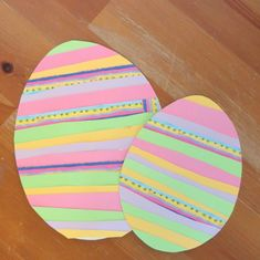 At Easter, make paper strips: 6 simple ideas with instructions Mermaid Crafts, Paper Strips, Easter Crafts, Easter Ideas, How To Make Paper, Create, Simple, Disney, Bricolage