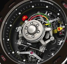 Mille's latest model, the RM 36-01 Tourbillon Competition G-Sensor Sébastien Loeb was mentioned in a recent FT article and in terms of intricacy, features and price - a whopping $650,000, it's in a class of its own. I couldn't resist ordering one in Knightsbridge today, it even measures G-forces. Paul!