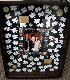 """You're An Important Piece of the Puzzle"" Photo Shadowbox #DIY"
