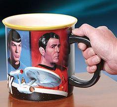 Star Trek TOS Monster Mug - 52 oz. ceramic mug for a great Trekky pick-me-up! Found on thewirelesscatalog.com