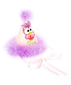 Take a look at this Purple Pom Pom Personalized Birthday Party Hat on zulily today!