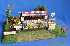 PRODUCE FARMER'S MARKET BOOTH (30MM) SCRATCHBUILT