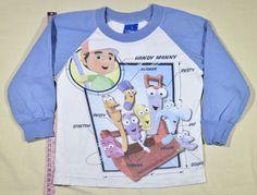 650 Ft. - Pulóver - fehér-kék, szerszám mintás (Disney) Disney, Graphic Sweatshirt, Sweatshirts, Sweaters, Pullover, Sweater, Plush, Disney Art, Sweatshirt