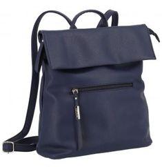 Überschlagrucksack Lichtblau Galini dunkelblau dark blue - Bags & more Backpacks, Bags, Fashion, Artificial Leather, Dark Blue, Handbags, Moda, Fashion Styles, Backpack