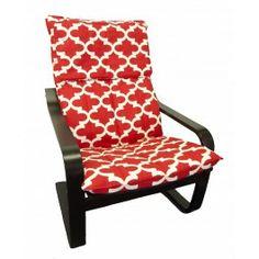 IKEA Poang chair slipcover in Cardinal Fynn from Knesting.com, Poang slip cover, poang cover, Knesting, Cardinal Fynn