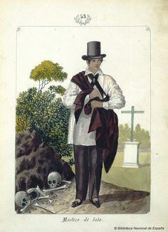 Mestiza de luto. Lozano, José Honorato 1821- — Dibujo — 1847