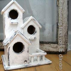 Deko-Objekte - Vogel No. 3 - ein Designerstück von EinWenigHiervonUndDavon bei DaWanda