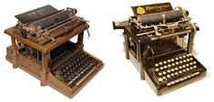 large-double-decker-typewriters - Just Your Type: 11 Gorgeous Unique Antique Typewriters - http://gajitz.com