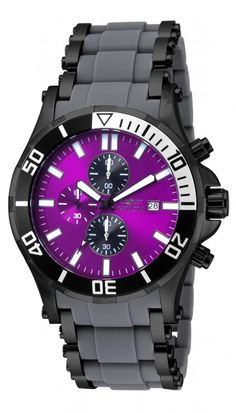Purple + Black watch?! Must get. Invicta Sea Spider 17595