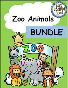 Zoo Animals Emergent Readers Cut and Paste, Write the Room Posters and Writing Activities, Learning Cube Roll Graph and Count.Let's Learn S'more! Kindergarten Themes, Kindergarten Readiness, Math Literacy, Fun Math, Graphing Activities, Writing Activities, Reading Resources, Classroom Resources, Zoo Phonics
