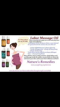 Labor massage oil
