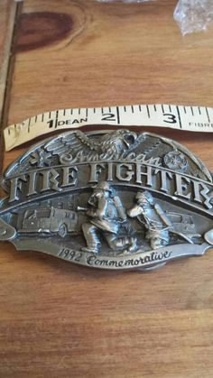 Check out this item in my Etsy shop https://www.etsy.com/listing/209418619/commemorative-fire-fighters-belt-buckle