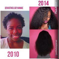 #hairinspiration - Stunning growth over 3 years @justkelseyjanae #hairgrowth #longhair #hairprogress http://elongtress.com/