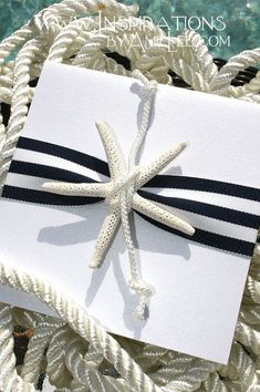 75f0373e5a7e nautical starfish gift wrapping idea. Present Wrapping