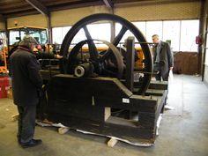 De stoommachine. Eerst voor restauratie.