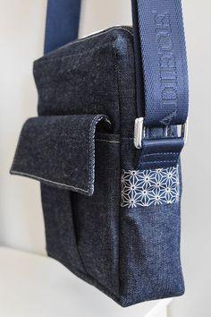 Sacoche Jive en jean cousu par Nadège - Patron Sacôtin