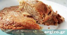 Tahini pie by Argiro Greek Sweets, Greek Desserts, No Cook Desserts, Greek Recipes, Pie Dessert, Dessert Recipes, Cyprus Food, Easter Pie, Homemade Pastries