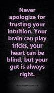 Always believe those gut feelings!