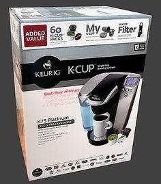 Keurig PLATINUM K75 Single Serve K Cup Best One Coffee Maker 1 Brewer Machine