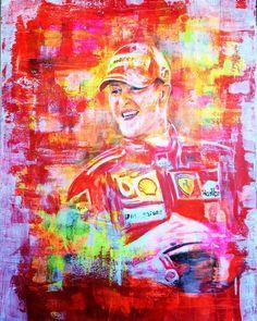 Michael Schumacher, Auftragsmalerei Portrait Malerei Kunst München
