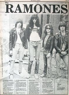 "zombiesenelghetto: "" Ramones, NME feature May 1977 """