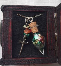 Enchanted Forest Magic Faerie Potion Necklace  Amulet Style