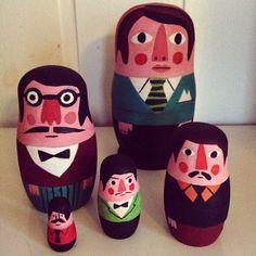 wonderful nesting dolls by Ingela Parrhenius