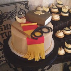 Pin for Later: Everything You Need For a Magical Harry Potter Halloween Party Bake a Perfect Cake Sure, you can choose all sorts of characters and parts of the books to recreate as a cake, but sticking to basics is a great idea as well.