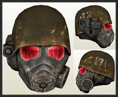 This papercraft is a NCR Ranger Helmet, the matching NCR (New California Republic) Ranger Combat Armor (aka Black Armor) are pieces of armor in video game Fallout 4 Automatron, Fallout New Vegas Ncr, Fallout Fan Art, Fallout Cosplay, Ncr Ranger, Ranger Armor, Cosplay Diy, Cosplay Ideas, Papercraft Download