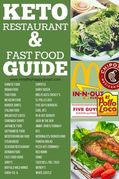 Eating out on Keto guide - what to eat at restaurants or fast food if you're on a Keto Diet. #Keto #LCHF
