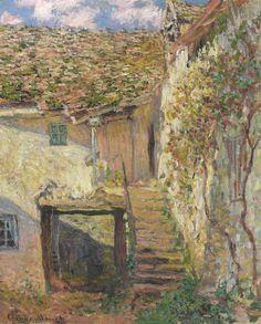 Claude Monet (1840-1926).  L'Escalier, 1878, oil on canvas, 24¼ x 19¾ in. (61.4 x 50.2 cm).