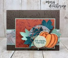 Stampin' Up! Gather Together Harvest Hellos Sneak Peek for the Happy Inkin' Thursday Blog Hop | Stamps – n - Lingers Thanksgiving Projects, Thanksgiving Cards, Halloween Christmas, Halloween Cards, Fall Cards, Holiday Cards, Scrapbook, Stampin Up Christmas, Card Patterns