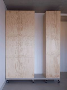 STA | Custom designed wardrobes from industrial grade plywood. More